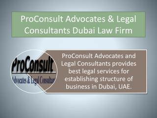 Legal services for establishing structure of business