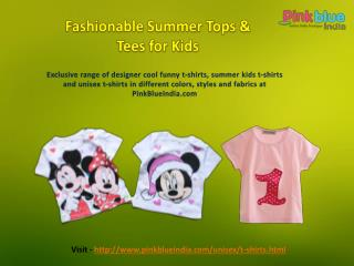 Designer Unisex T-shirts for Baby Boys & Girls