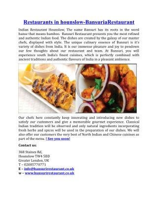 Restaurants in Hounslow BansuriRestaurant