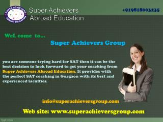 Find the best SAT coaching in Gurgaon