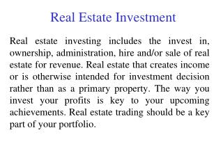 Real Estate Investment | Kim Solveson