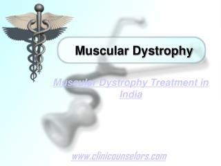 Muscular Dystrophy Treatment in India