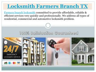 Locksmith Farmers Branch TX