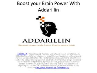Boost your Brain Power With Addarillin