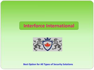 Private Investigations Company | Interforce international