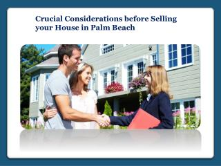 Selling your House in Palm Beach