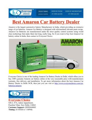 Best Amaron Car Battery Dealer