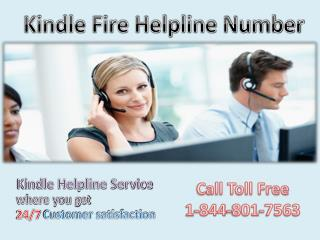 Just Call on Kindle Fire Helpline number 1-844-801-7563