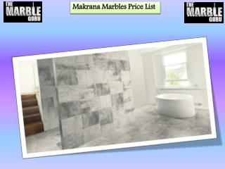 Makrana Marbles Price List in India | The Marble Guru