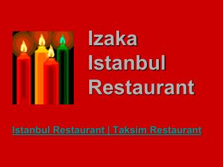 Bosphorus restaurant - istanbul best restaurants