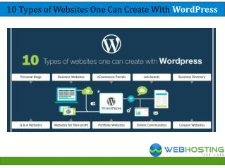 10 Types of Websites One Can Create With WordPress
