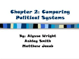 Chapter 2: Comparing Political Systems