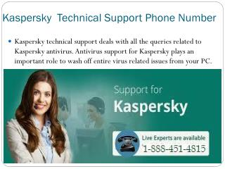 Kaspersky Toll Free Number 1-888-451-4815