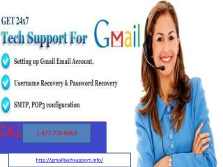 Service     [1-877-778-8969]    Gmail Tech Support Number  USA