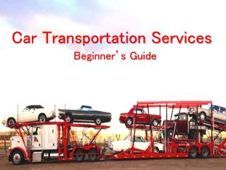 Car Transportation Services - Beginners Guide