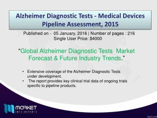 Global Alzheimer Diagnostic Tests  Market Outlook