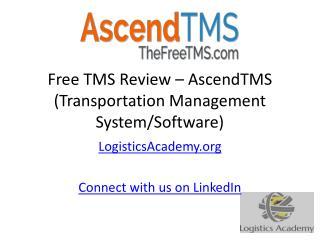 Free TMS Review – AscendTMS (Transportation Management System)