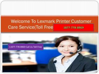 Lexmark Printer \*1877*778*8969*/ Customer Support Number
