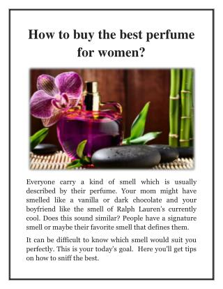 Perfumebff - How to buy the best perfume for women?
