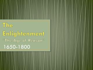 Mayer - World History - The Enlightenment