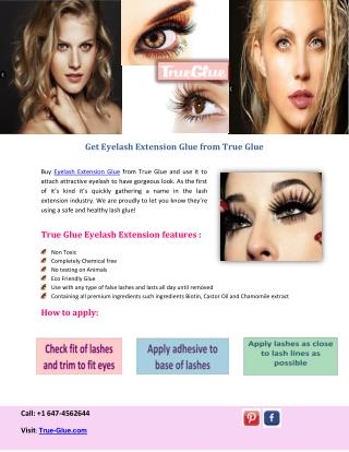 Get Eyelash Extension Glue from True Glue