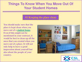 Things to know when you move out of your student homes