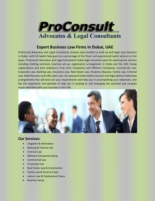 Expert Business Law Firms in Dubai, UAE