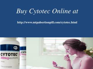Buy cytotec online