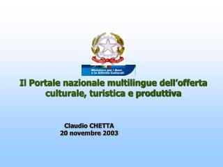 Claudio CHETTA 20 novembre 2003