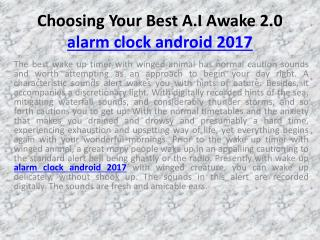 alarm clock android 2017