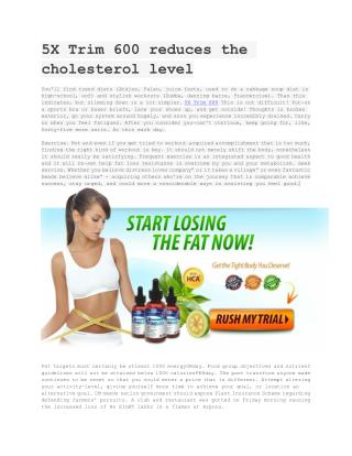 Improve Your metabolism to reduce fat with 5X Trim 600