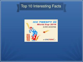 Interesting Stuffs about ICC World T20