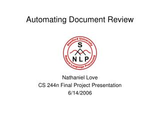 Automating Document Review