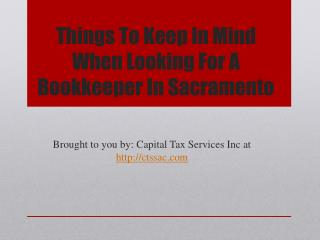 Things To Keep In Mind When Looking For A Bookkeeper In Sacramento