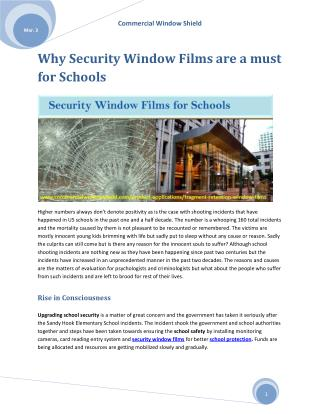 Window Security Film