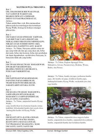 Mantra dalam Agama Hindu