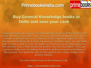Buy General Knowledge books in Delhi and save your cash