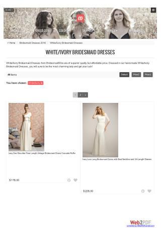 White/Ivory Bridesmaid Dresses