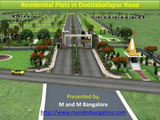 Residential Plots in Doddaballapur Road