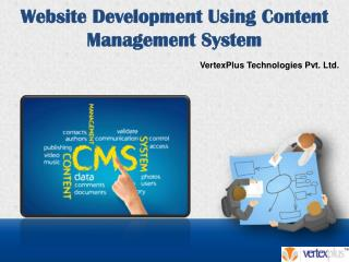 Website Development Using Content Management System