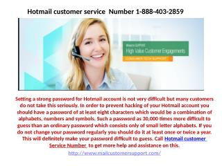 Can't access the Hotmail mail on your mobile device 1-888-403-2859
