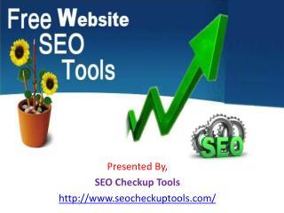 Free Website SEO Tools