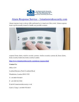 Alarm Response Service