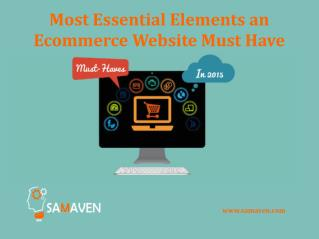 Most Essential Elements an Ecommerce Website Must Have