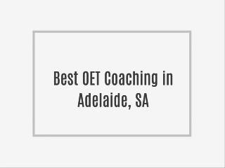 OET Training in Adelaide, SA