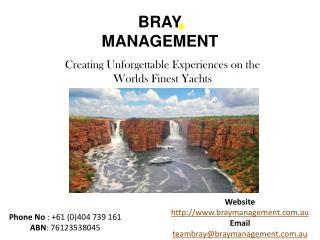 Enjoy the Luxurious Boat Charter with Bray Management