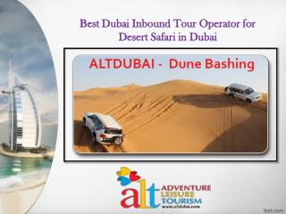 Best Dubai Inbound Tour Operator for Desert Safari in Dubai