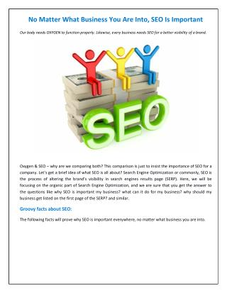 No Matter What Business You Are Into, SEO Is Important