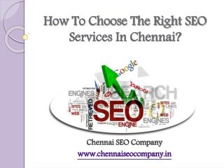 How To Choose The Best SEO Services In Chennai?