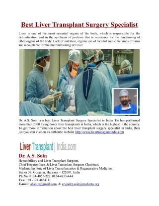 Best Liver Transplant Surgery Specialist